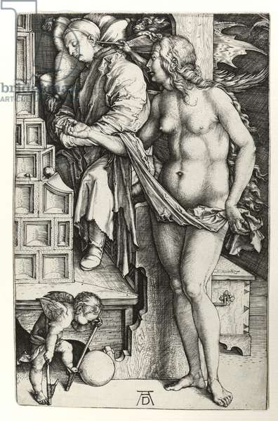 The dream of the doctor, c.1498 (Burin engraving)