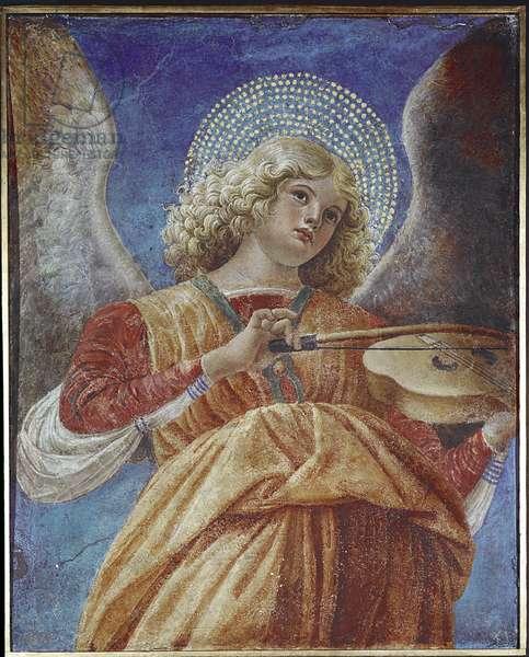 Angel playing violin (fresco, circa 1480)