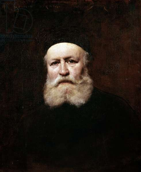 Portrait of the French composer Charles Gounod (oil on canvas, 1890)