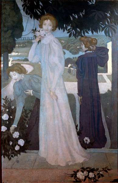 Portrait of Yvonne Lerolle in three aspects, 1897 (oil on canvas)