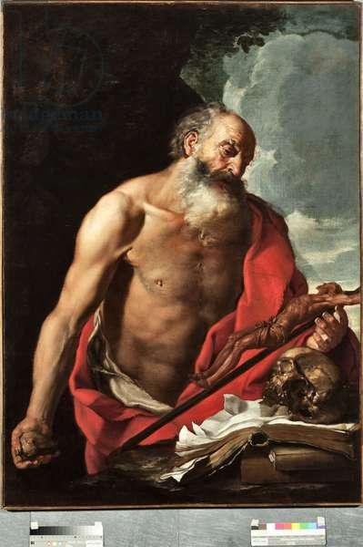 Representation of Saint Jerome Painting by Hendrik van Somer (1615-1684), 17th century Genes, Musei di Strada Nuova inv n PB 1381