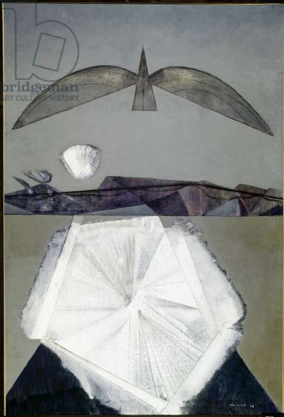 After me the sleep (hommage to Paul Eluard, 1958 (oil on canvas)