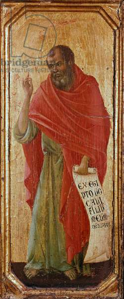 The Prophet Hosee Detrempe on wood by Duccio di Buoninsegna (1255-1318/9) 1308-1311 Dim. 42,5x16 cm Siena, Museo del 'Opera Metropolitana