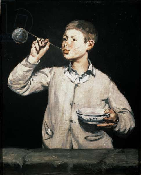 Soap Bubbles Painting by Edouard Manet (1832-1883) 1867 Dim. 100x81 cm Sao Paulo, Museum of Art