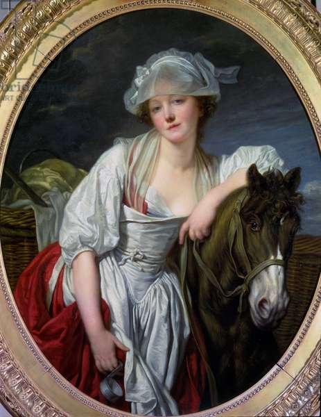 La laitiere Painting by Jean-Baptiste (Jean Baptiste) Greuze (1725-1805) 1780 Sun. 106x86 cm Paris, Musee du Louvre