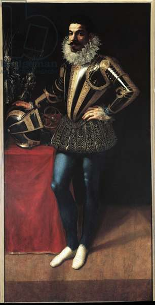 Portrait of Lucio Foppa (oil on panel, c.1590)