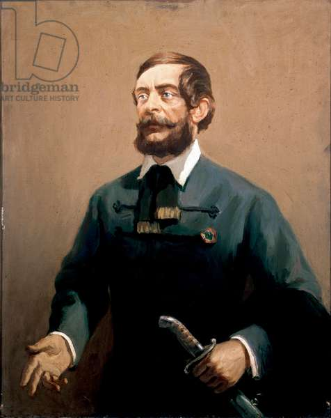 """""Portrait de Lajos Kossuth (1802-1894), homme d'etat et patriote hongrois"""" Peinture de Joszef Csaki-Maronyak (Csaki Maronyak) 20eme siecle Turin, Museo Nazionale del Risorgimento DR ©Luisa ricciarini/leemage"