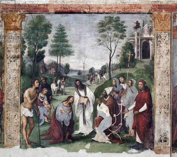 Life of St. Cecile: Urban I invites Valerian to convert (fresco, 1506)