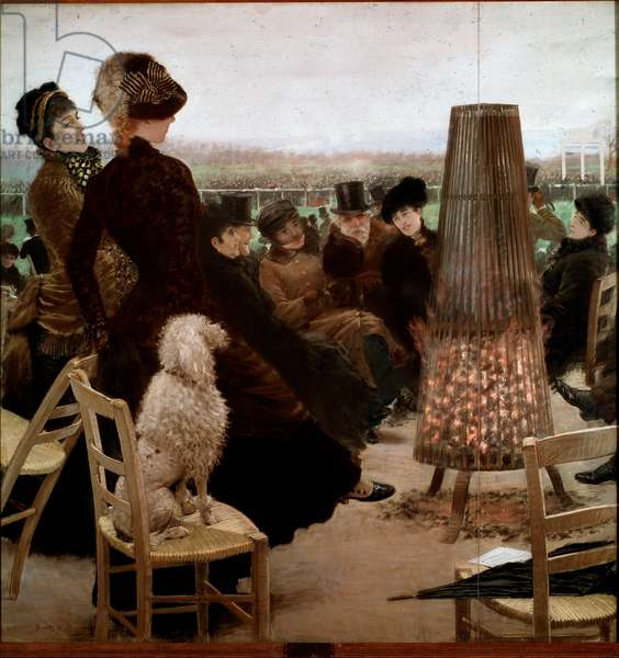 The races at the Bois de Boulogne Spectators watching horse races. Painting by Giuseppe De Nittis (1846-1884) 1881 Rome, Galleria Nazionale d'Arte Moderna
