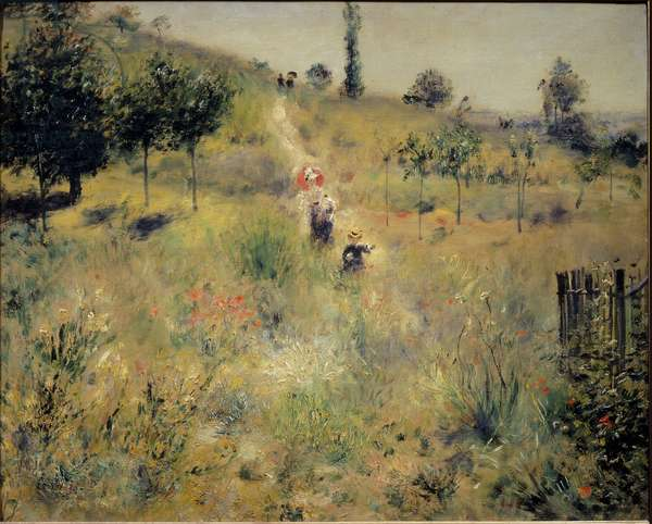 Path rising in the high herbs, 1875 - Oil On canvas