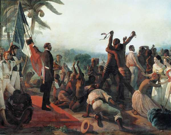 Proclamation of the abolition of slavery in the French colonies on April 23, 1848 (oil on canvas, 19th century)
