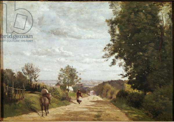 The road to Sevres (oil on canvas, 1858-1859)