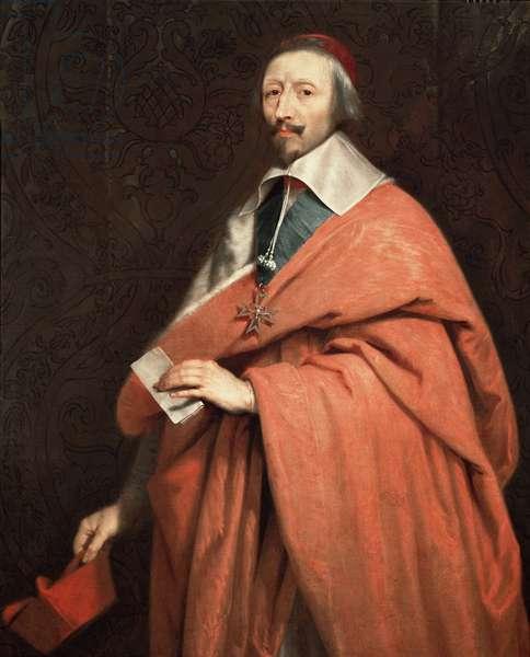 Portrait of Armand Jean du Plessis, Cardinal de Richelieu (oil on canvas, 17th century)