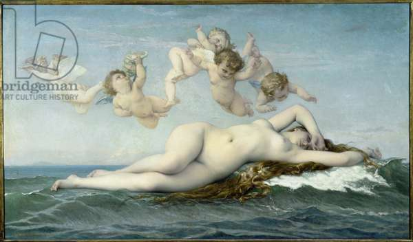 The Birth of Venus - Painting by Alexandre Cabanel (1823-1889), oil on canvas, 130x225 cm, 1863. Paris, Musee d'Orsay