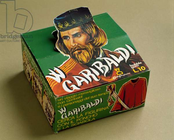 Derivative products: box of chewing gum with the effigy of Giuseppe Garibaldi