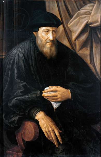 Portrait of old man (probably Andrea Doria) (Portrait of Andrea Doria or d'Oria (1466-1560) Italian condottiere and admiral from Genoa) Painting by Jan Metsys (or Massys) (1509-1575), circa 1552 Genes, Musei di Strada Nuova (ex Palazzo Bianco)