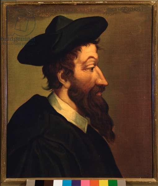 Portrait of Nicola Vicentino (painting, 16th century)