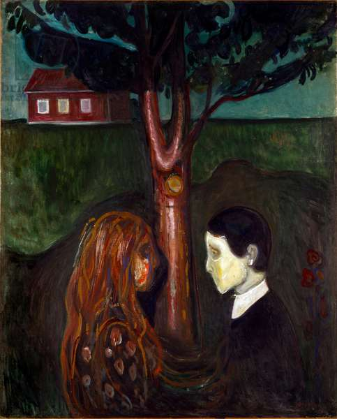 Eyes in the Eyes Painting by Edvard Munch (1863-1944) 1894 Sun. 136x110 cm Oslo, Kommunes Kunstsamlinger Munch-Museet (Musee Munch)