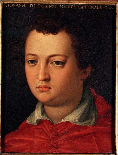 Portrait of John of Medici (Giovanni di Cosimo I de 'Medici) (1543-1562) Painting by Allori Angelo di Cosimo dit Bronzino (1503-1572) 16th century Sun 15x12 cm Palace Medici-Riccardi (Medici Riccardi) Florence