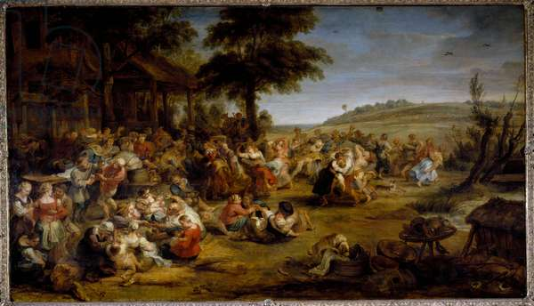 The fair (oil on wood, 1635-1638)