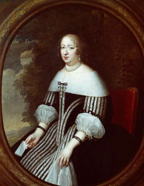 Portrait of Anne of Austria (1601-1666) regente in widow's dress Painting by Charles Beaubrun (1604-1692) and Henri Beaubrun (1603-1677) 17th century Sun. 1,8x1 m Versailles, musee du chateau