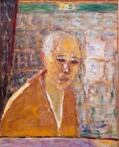 Self Portrait Painting by Pierre Bonnard (1867-1947) 1945 Dim. 56x46 cm New York, Collection Donald S. Stralem