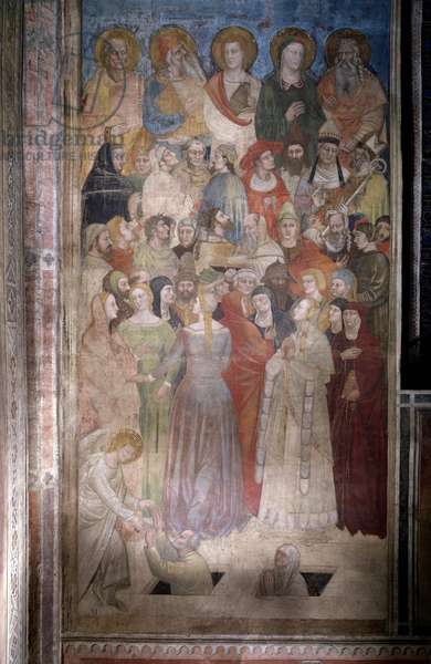Resurrection of the Elected (from Dante's Divine Comedy) - Fresco, c.1360