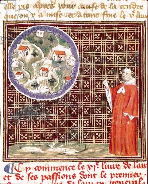 Properties of Water, from the ' De proprietatibus rerum ' by Bartholomeus Anglicus (vellum)
