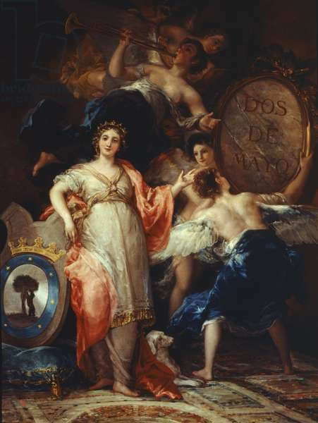 Allegory of the City of Madrid (Spain) - Painting by Francisco Goya y Lucientes (1746-1828), oil on canvas, 260x195 cm, 1810. Madrid, Museo di Storia