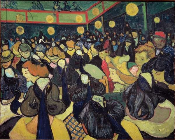 The dance Hall in Arles - oil on canvas, 1888