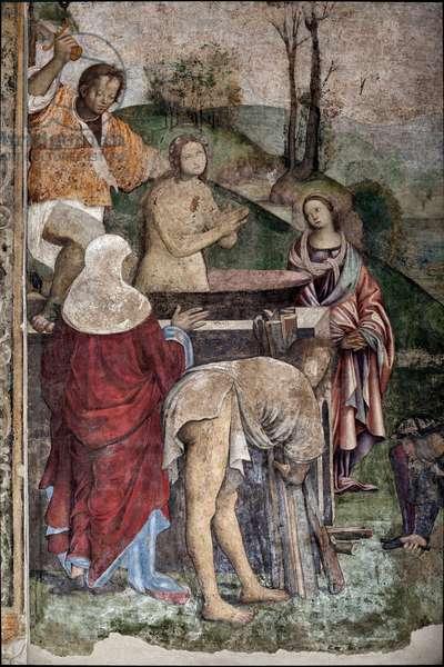 Life of St Cecilia:  Martyrdom of St Cecilia, detail (fresco, 1506)
