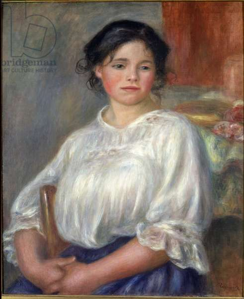 Young girl seated, 1909 - Oil on canvas