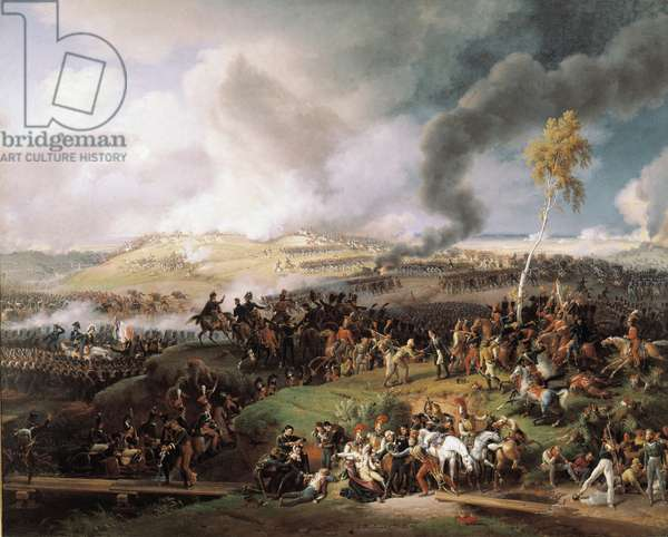 Battle of Moskova, (also Battle of Borodino) (September 7, 1812) The army of Napoleon and General Michel Ney (1769-1815) (marechal) won the battle of Moscova (Moscowa or Moskva) in the Russian campaign. Painting by Louis Francois Lejeune (1775-1848), 1822. Dim. 2,10 x 2,64 m. Versailles, Musee du Chateau - Battle of Moskova (also Battle of Borodino) (7 September 1812) The armies of Napoleon and of General Michel Ney (1769-1815) (Marshal) won the battle of Moscow (Moscow or Moscow) during the Campaign of Russia. Painting by Louis Francois Lejeune (1775-1848), 1822. 2.10 x 2.64m. Castle Museum, Versailles, France