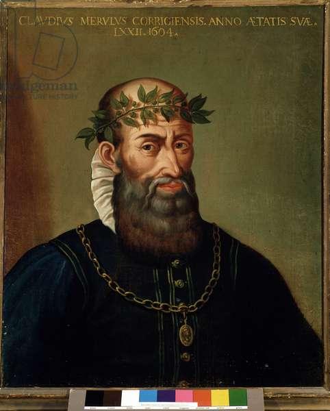 Portrait of Claudio Merulo (Merlotti, Merulus) (1533-1604) italian composer 17th century.