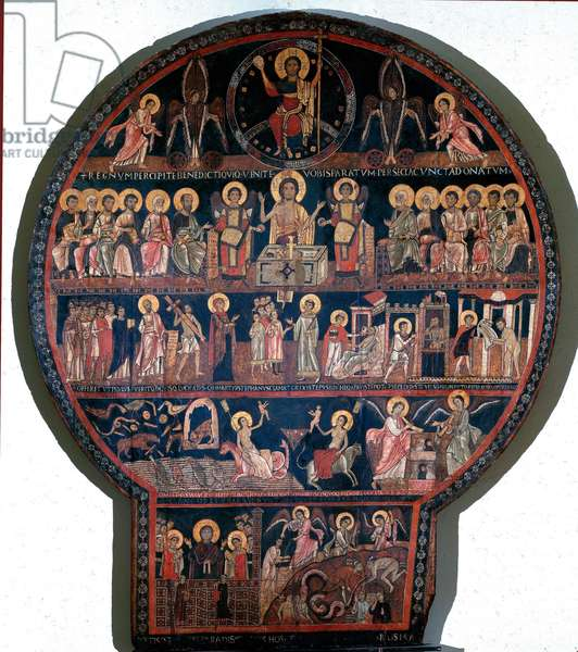 The Universal Judgement Painting on wood by Giovanni and Nicola of the Roman Benedictine School. 1050-1100 Sun. h. 289 cm Vatican, Pinacoteca Vaticana