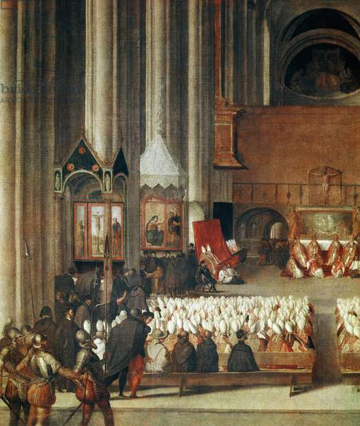 The Assembly of the Council of Trent, 1563, detail (painting, 16th century)