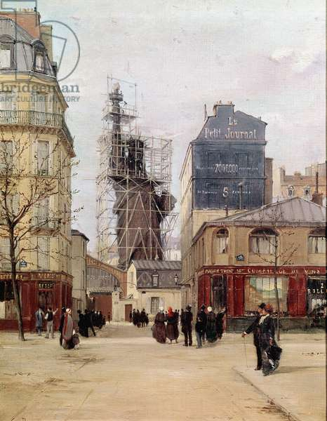 La Liberte illuminating the world The statue of Liberte made by Frederic Auguste Bartholdi 1834-1905) in the Gayet foundry, rue de Chazelles near the Boulevard de Courcelles in Paris before leaving for New York in 1883. Painting by Paul Joseph Victor Dargaud (active around 1873-1920) 19th century Sun. 46x32 cm Paris, Musee Carnavalet