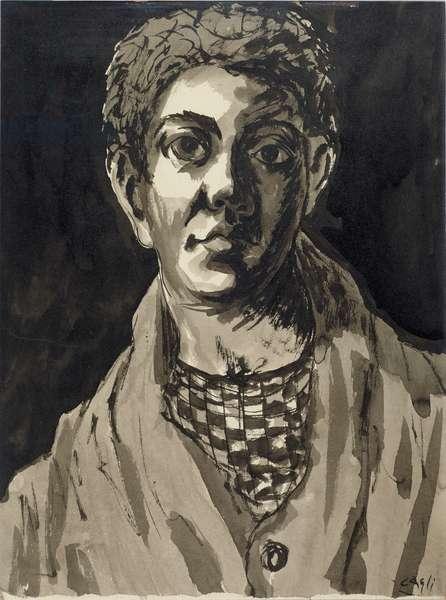 David, 1933 (ink wash on paper)