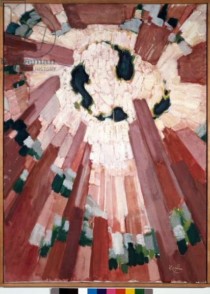 La primitive Painting by Francois Kupka (Frantisek Kupka, 1871-1957), 1912-1913 Oil on canvas Dim: 100x72,5 m Paris, national museum of modern art