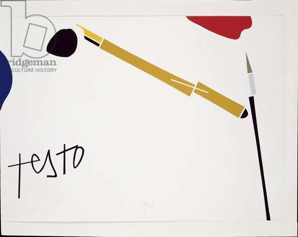 Testo (Serigraphy on paper, 1983)