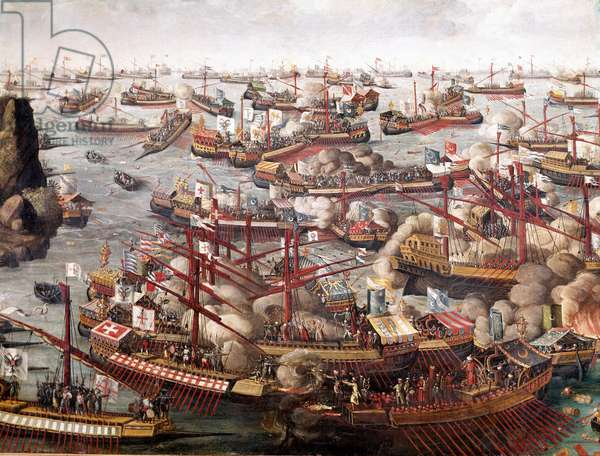 Battle of Lepanto, October 7, 1571.  late 16th century (oil on canvas)