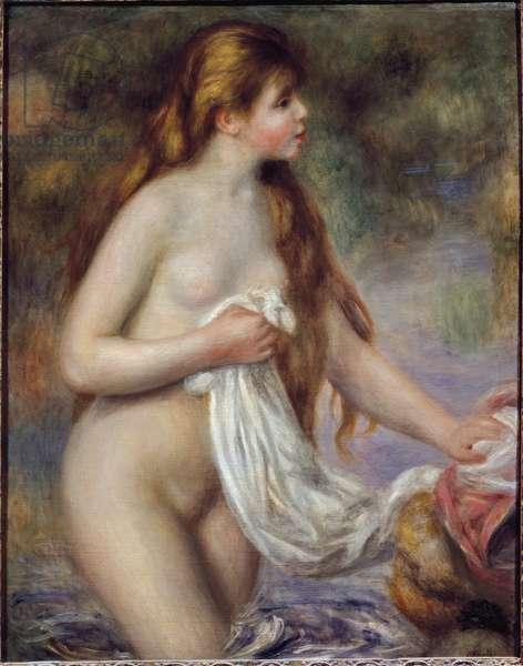 Bather with long hair (oil on canvas,  circa 1895)