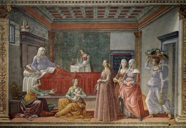 The Birth of St John the Baptist (Fresco, 1486-1490)