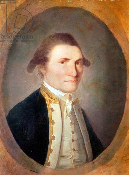 Portrait of the British Navigator James Cook (1728-1779) (Portrait of British explorer James Cook) Painting by John Webber (1750-1793) London National Portrait Gallery