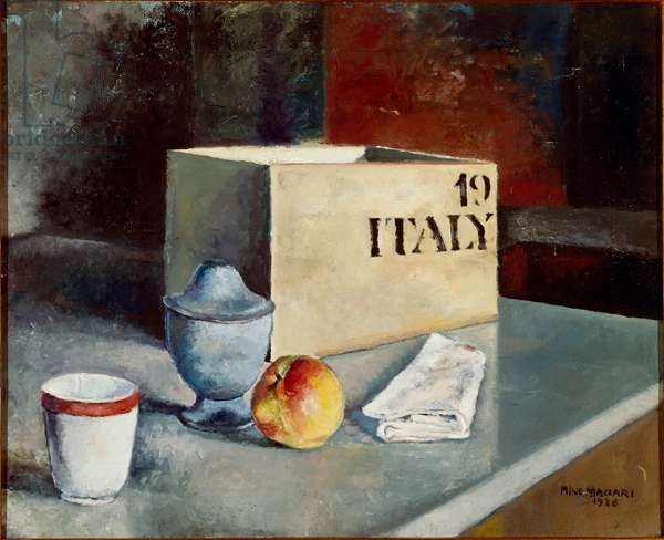 Still Life 1926 Painting by Mino Maccari (1840-1919) 20th century Sun. 46 x 56.5 cm Florence, Galleria d'Arte Moderna