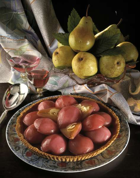 Still life, food, pears in wine (still life, food, pears in wine) Photography