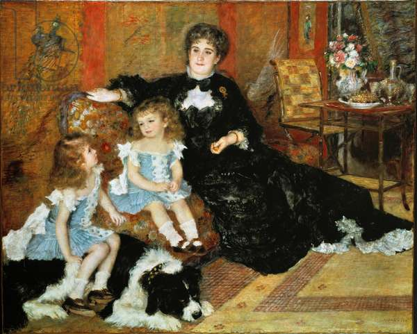 Mrs. Charpentier and her daughters, 1878 (oil on canvas)