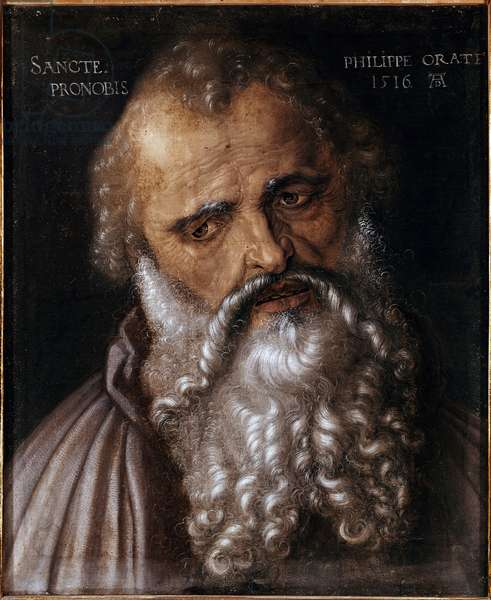 Portrait of the apostle Philip (Philip the apostle) Painting by Albrecht Durer (1471-1528) 1516 Dim 45x38 cm Florence Uffizi gallery