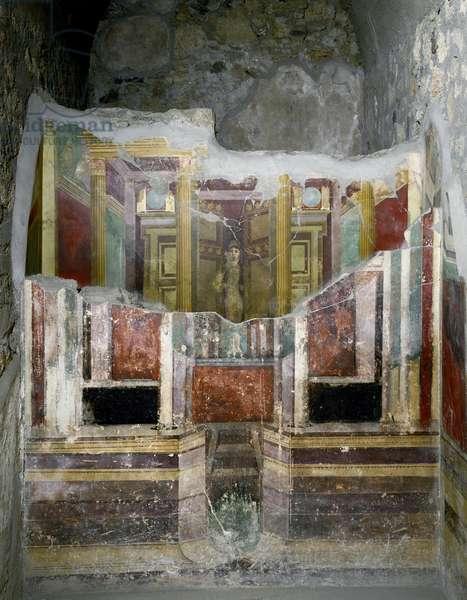 Roman Art: fresco from the House of Fabio Rufo in Pompei. 1st century AD. Pompei, Italy
