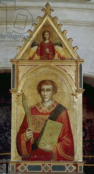 Saint Laurent (San Lorenzo) - Painting by Giotto (1267? -1337), oil on wood, 81x55 cm, 1320-1325. Chaalis, Musee Jacquemart Andre